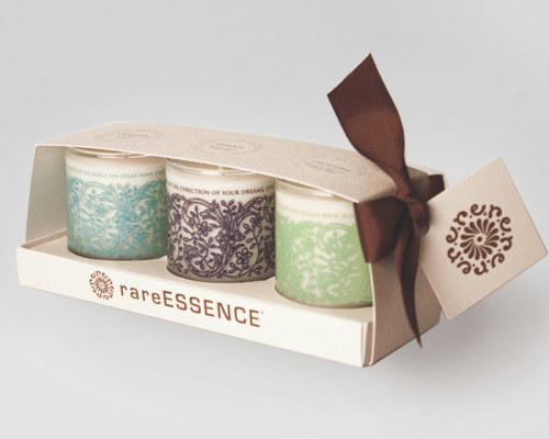 rareEARTH Naturals Spa Votive Candle Trio Clarity Dream Uplifting