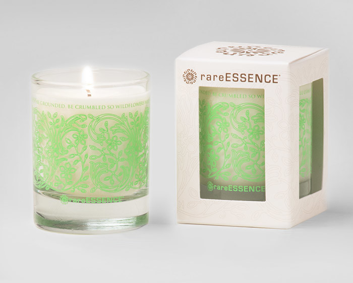 rareEARTH Naturals Spa Votive Candle Uplifting