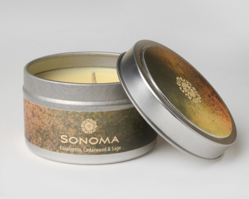 rareEARTH Naturals Candle Tins Sonoma