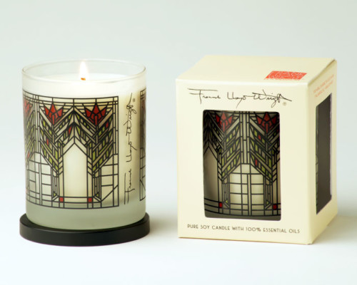 frank lloyd wright rare earth candle - dana-thomas house sumac