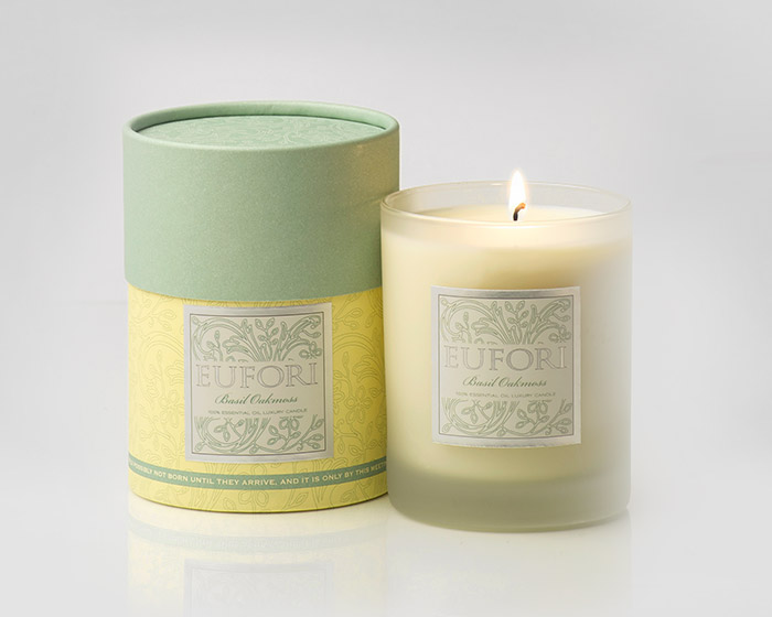 Eufori Candle - Basil Oakmoss