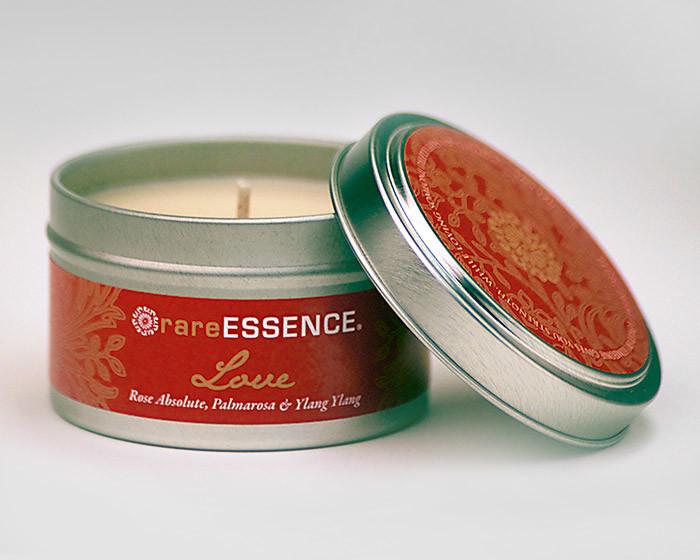rareEARTH Love Spa Travel Tin Candle