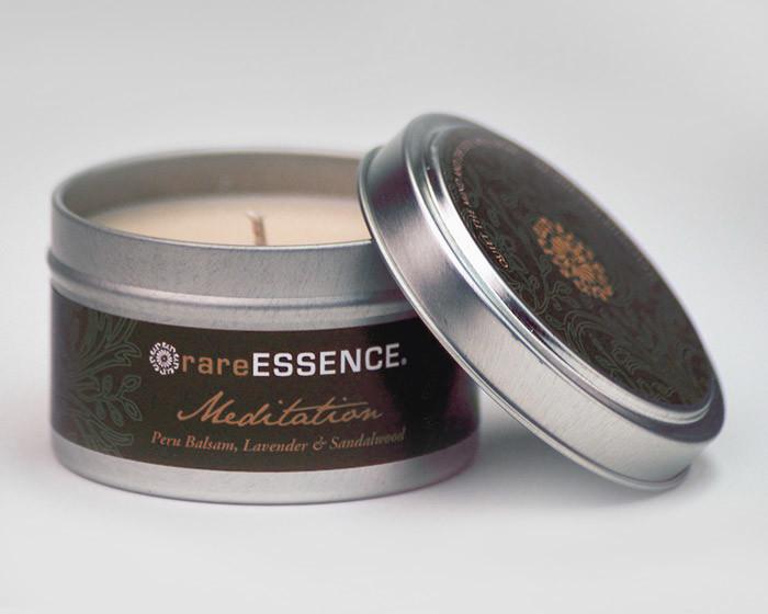 rareEARTH Meditation Spa Travel Tin Candle