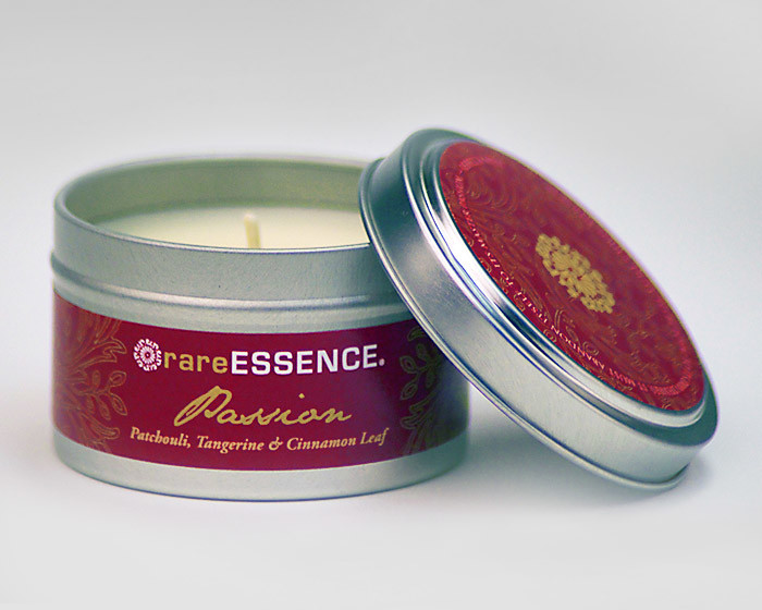 rareEARTH Passion Spa Travel Tin Candle