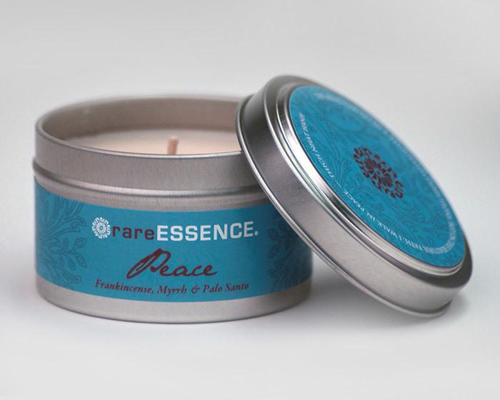 rareEARTH Peace Spa Travel Tin Candle